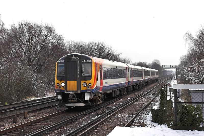 444038 Berrylands 10/2/2012<br /> 1W21 1035 London Waterloo-Weymouth