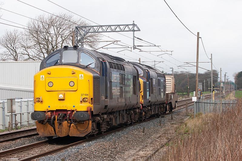 37194 and 37087, Brock 10/3/2012<br /> 6K73 0850 Sellafield-Crewe CLS
