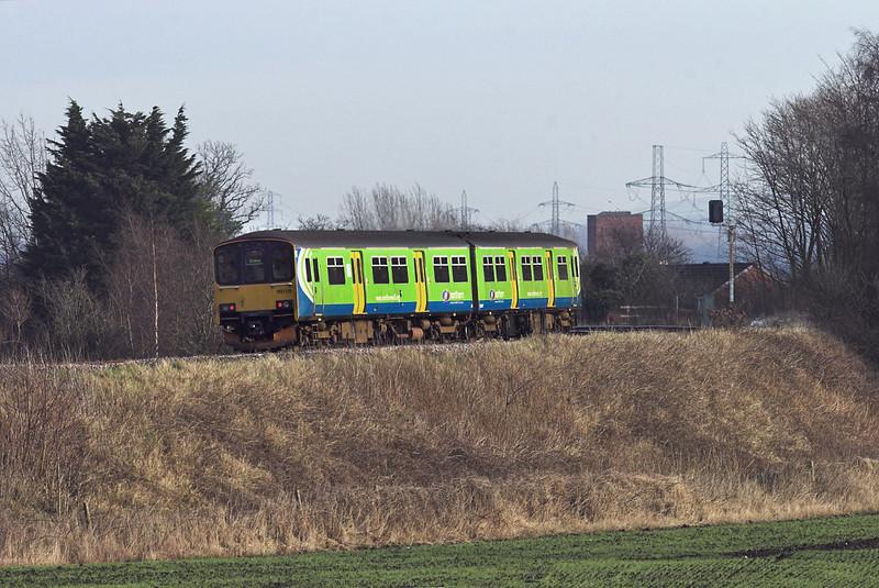 150113 Farington 17/1/2012<br /> 2N12 1244 Blackpool South-Colne