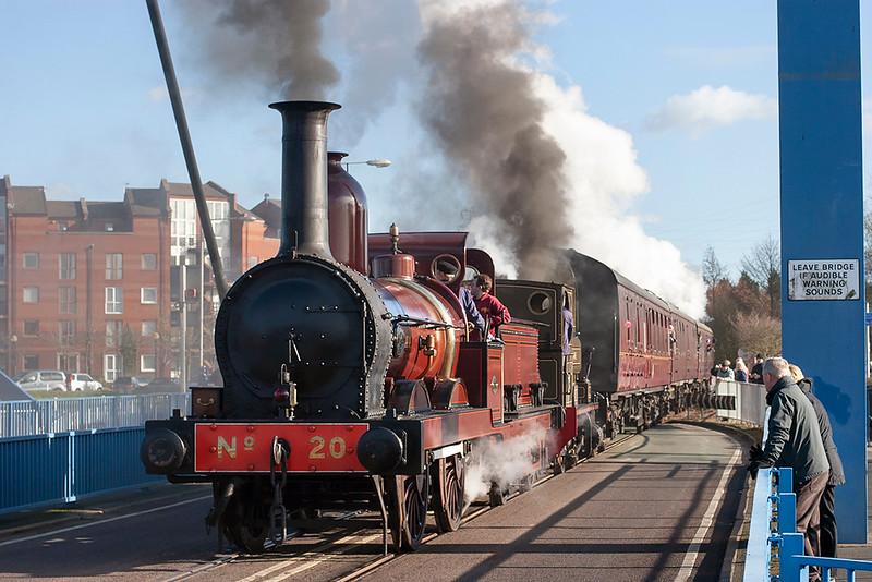 Furness Railway No.20 and 'John Howe', Preston Docks 19/2/2012