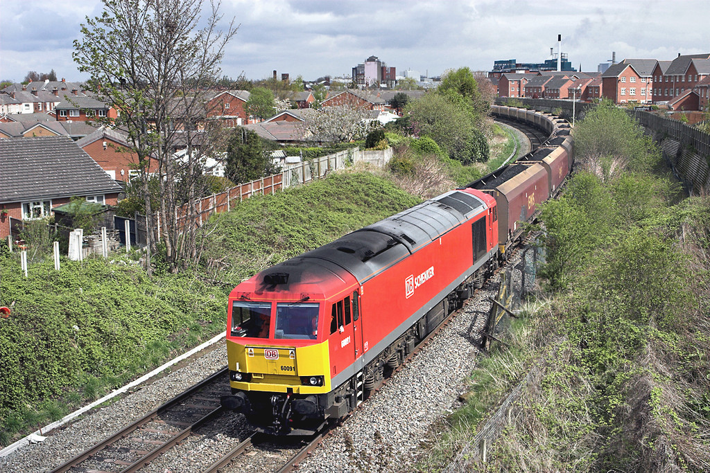 60091 Sankey Bridges 19/4/2012<br /> 6F81 0914 Liverpool Bulk Terminal-Fiddlers Ferry PS
