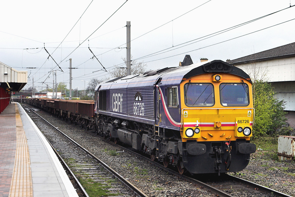 66726 Warrington Bank Quay 19/4/2012<br /> 6L28 0305 Carlisle Yard-Whitemoor Yard