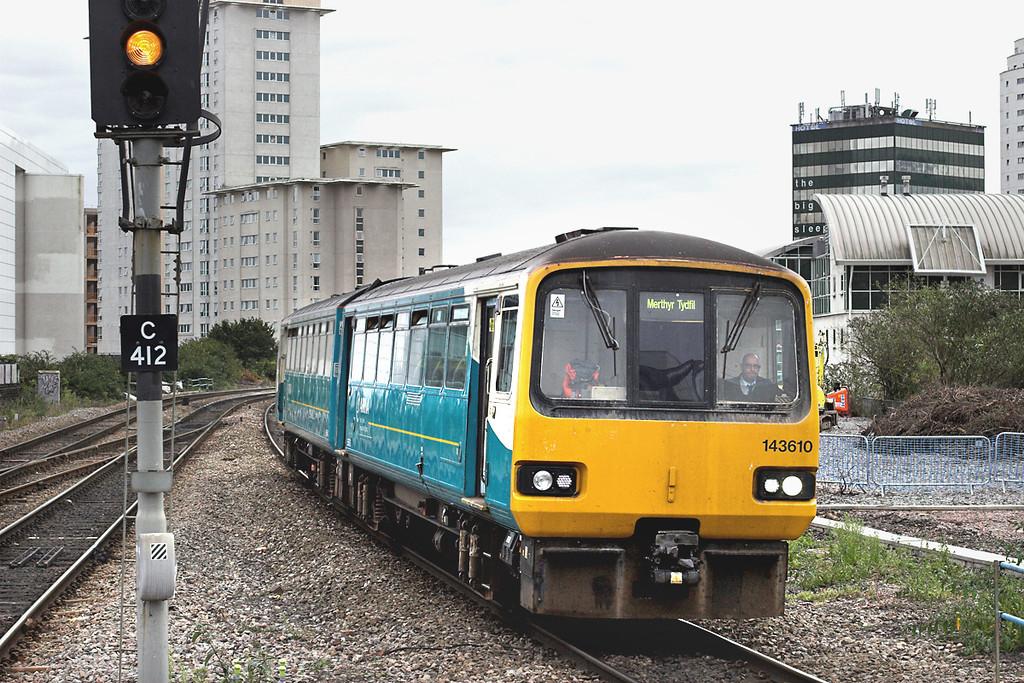 143610 Cardiff Queen Street 19/10/2012<br /> 2M42 1525 Barry Island-Mythyr Tydfil