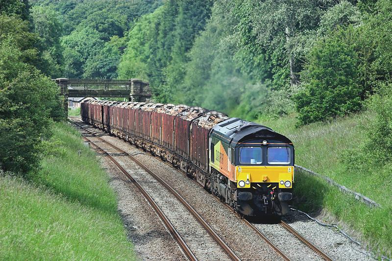 66848 Ramsgreave 20/6/2012<br /> 6J37 1244 Carlisle Yard-Chirk