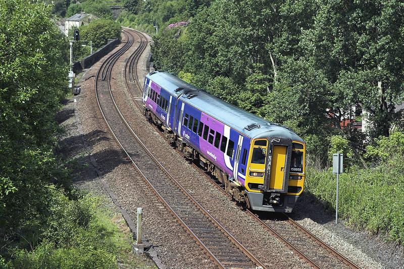 158851 Horsfall Tunnel 20/6/2012<br /> 2E19 1021 Manchester Victoria-Leeds