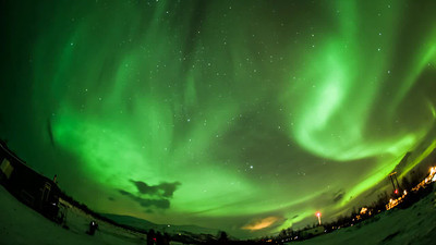 This is a quick edit time-lapse view (15mm fisheye lens view) of aurora from Abisko, Sweden (15 Dec. 2012).  This video will be replaced later when a final version is ready.