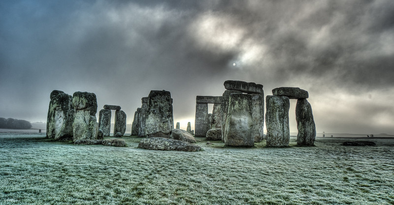 The sun barely shows out of the freezing fog that plagued this day's sightseeing.