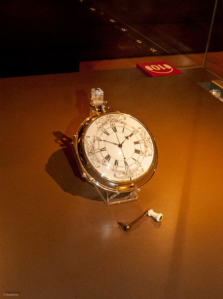 H4 - John Harrison's final model.  It looks like a pocket watch, but you'd need a very big pocket for it.