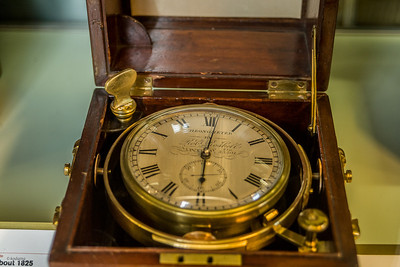A more modern (1850's) ship's chronometer derived from Harrison's H4.