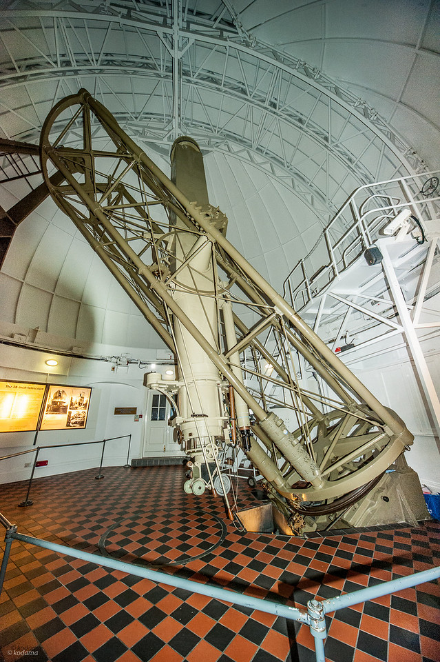 """The 28"""" refractor at the Royal Observatory - largest in the UK, and 7th largest refractor in the world (among the existing """"traditional"""" refractors)."""