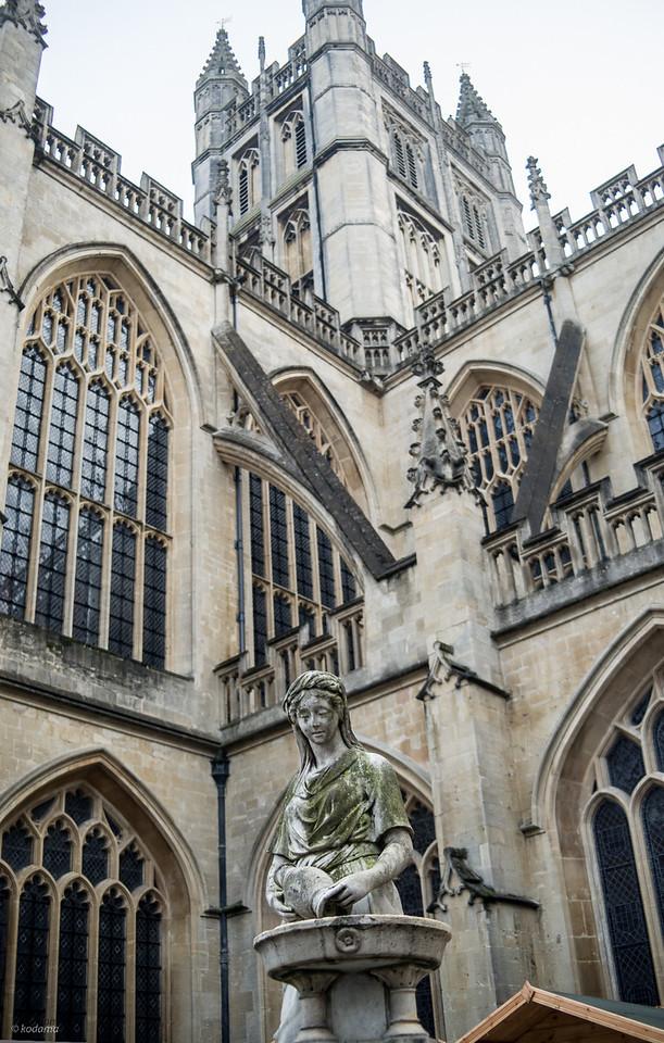 Bath Abbey in the city of Bath.