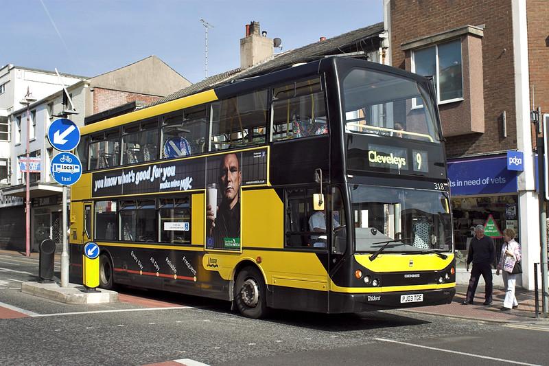 318 PJ03TGE, Blackpool 21/5/2012