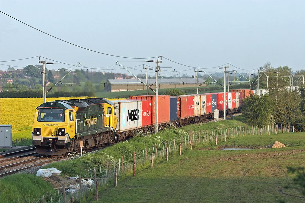 70020 Watford 22/5/2012<br /> 4M93 1436 Felixstowe FLT-Lawley Street FLT