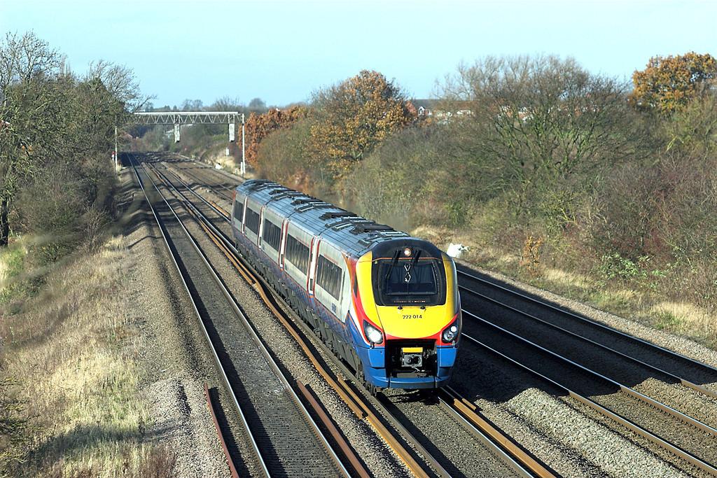 222014 Cossington 23/11/2012<br /> 1C42 1147 Sheffield-London St Pancras