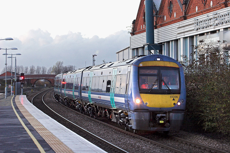 170206 Loughborough 23/11/2012<br /> 5Z42 1603 Loughborough-Norwich Crown Point