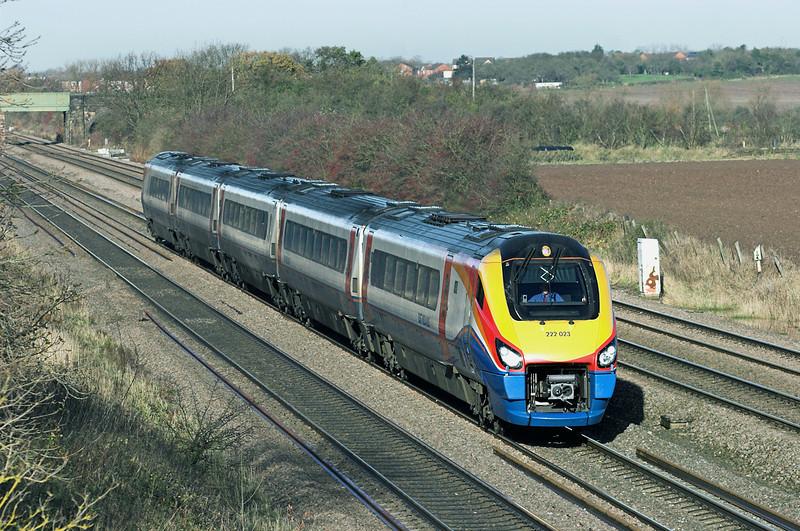 222023 Cossington 23/11/2012<br /> 1B31 1002 Nottingham-London St Pancras