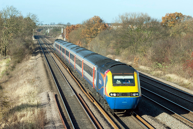 43044 and 43054, Cossington 23/11/2012<br /> 1B43 1228 Nottingham-London St Pancras