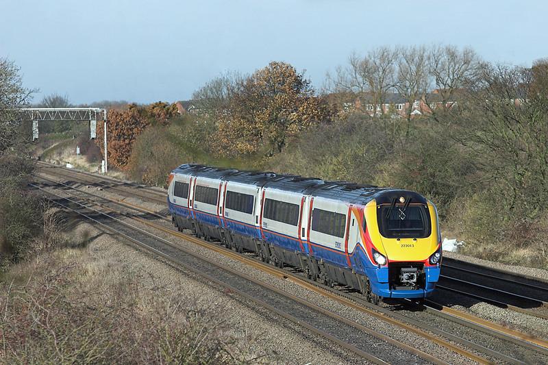 222013 Cossington 23/11/2012<br /> 1B41 1202 Nottingham-London St Pancras