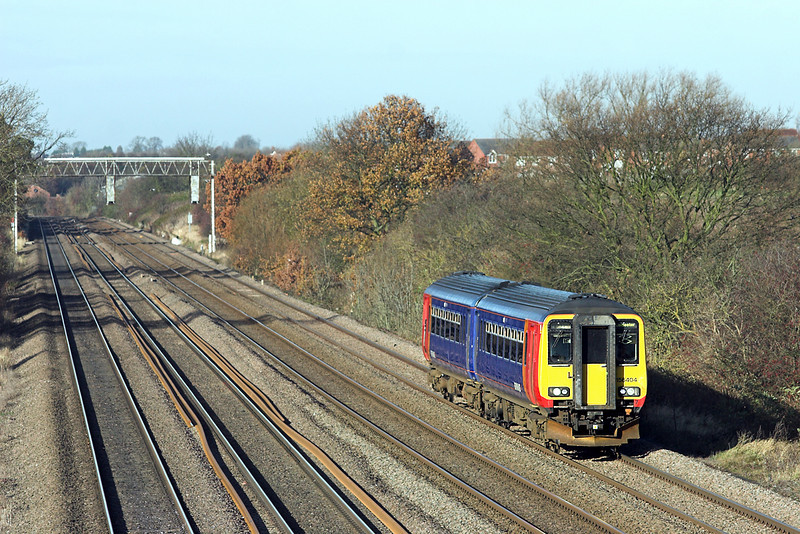 156404 Cossington 23/11/2012<br /> 2L60 1036 Lincoln Central-Leicester