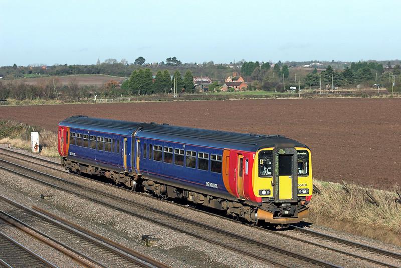 156401 Cossington 23/11/2012<br /> 2L58 0932 Lincoln Central-Leicester