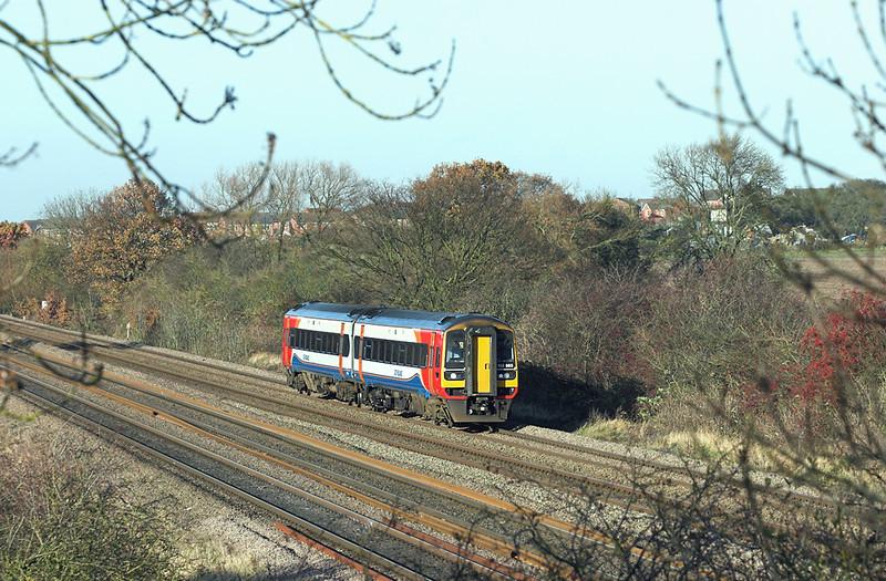158865 Cossington 23/11/2012<br /> 2L62 1142 Lincoln Central-Leicester