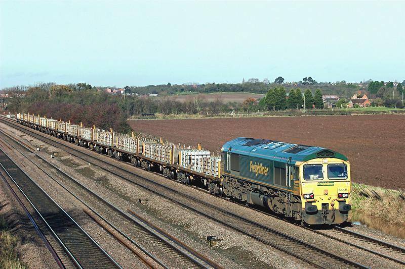 66511 Cossington 23/11/2012<br /> 4Z33 1024 Stapleford-Whitemoor Yard