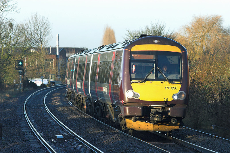 170398 Hinckley 23/11/2012<br /> 1K05 0752 Birmingham New Street-Leicester
