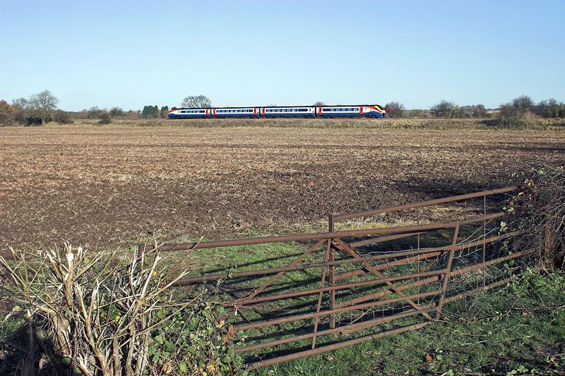 222102 Cossington 23/11/2012<br /> 1D24 1030 London St Pancras-Nottingham