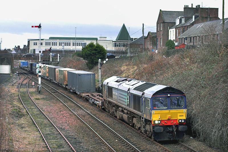 66301 Arbroath 25/1/2012<br /> 4A13 1220 Grangemouth-Aberdeen