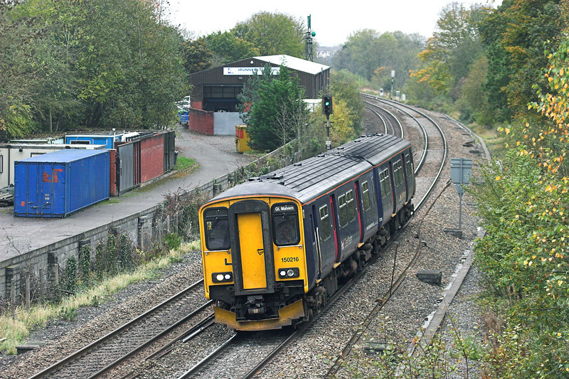 150216 Ram Hill 25/10/2012<br /> 2M98 1227 Southampton Central-Great Malvern