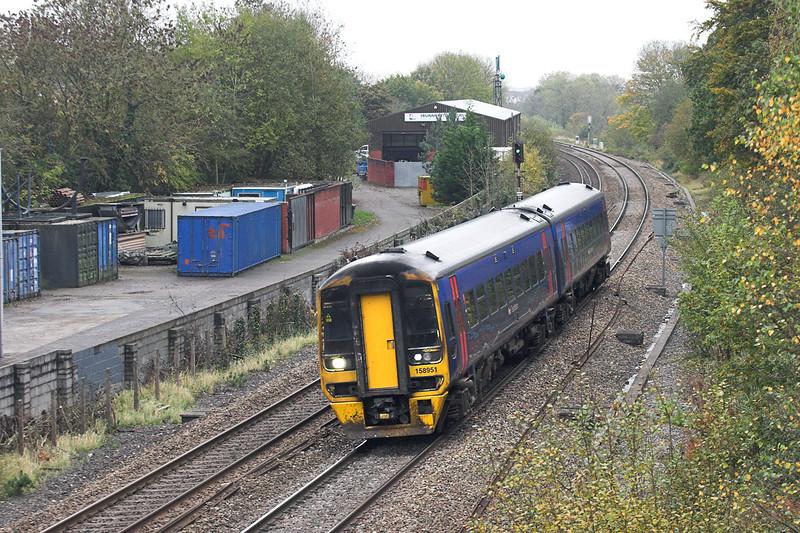 158951 Ram Hill 25/10/2012<br /> 2E22 1341 Bristol Termple Meads-Gloucester
