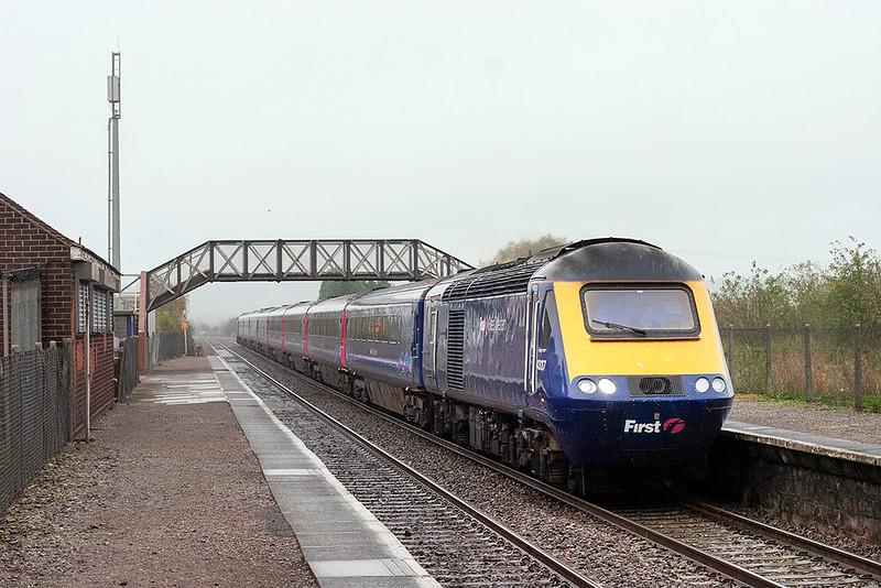 43137 and 43133, Pilning 25/10/2012<br /> 1B15 0845 London Paddington-Swansea
