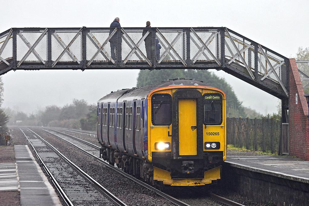 150265 Pilning 25/10/2012<br /> 2U10 0945 Weston super Mare-Cardiff Central