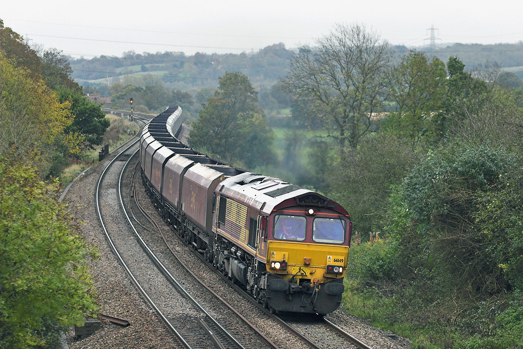 66149 Ram Hill 25/10/2012<br /> 4D12 1322 Didcot PS-Avonmouth