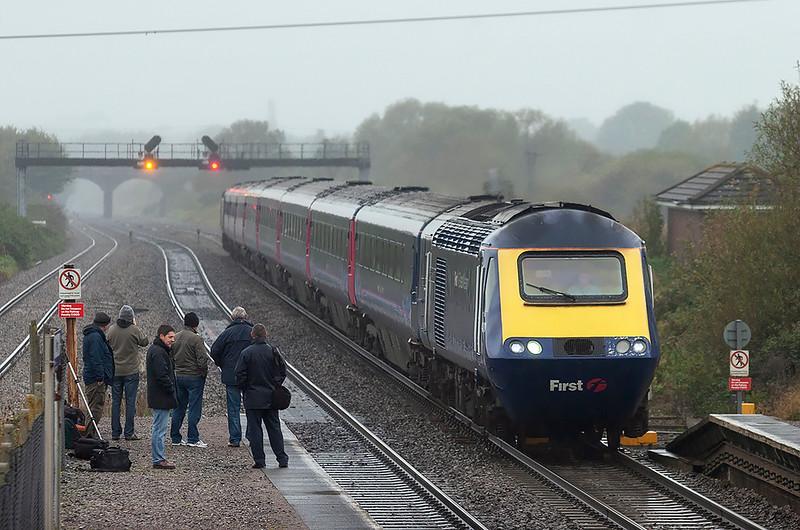 43160 and 43063, Pilning 25/10/2012<br /> 1L48 0928 Swansea-London Paddington