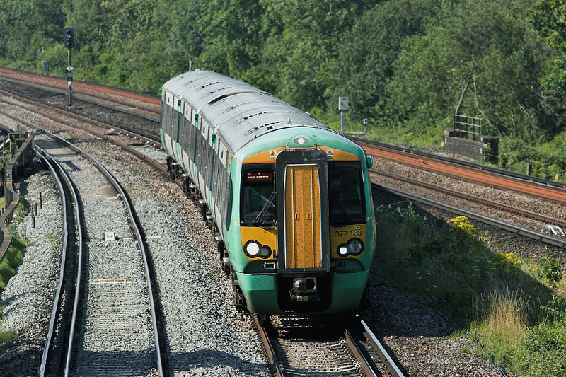 377163 Salfords 26/7/2012<br /> 2C95 1603 London Bridge-Horsham