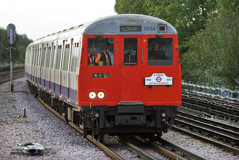 Metropolitan Line 5034, Preston Road 26/9/2012