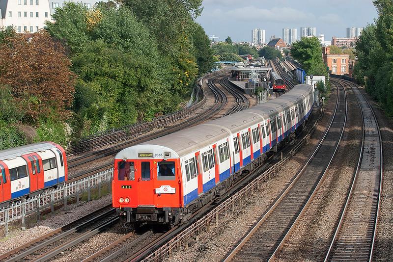 Metropolitan Line 5063, Kilburn 26/9/2012