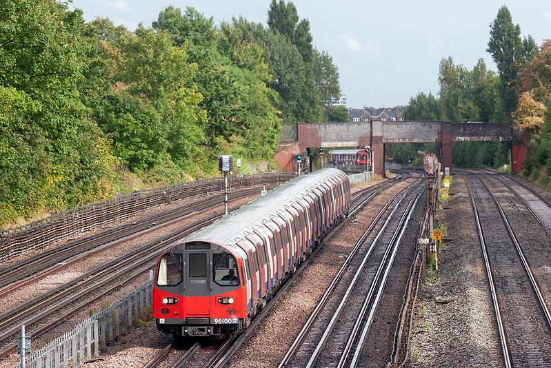 Jubilee Line 96100, Willesden Green 26/9/2012