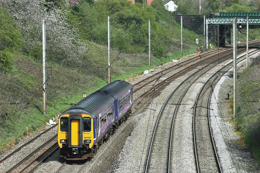 156487 Penwortham 27/4/2012<br /> 2J48 1020 Blackpool North-Manchester Victoria