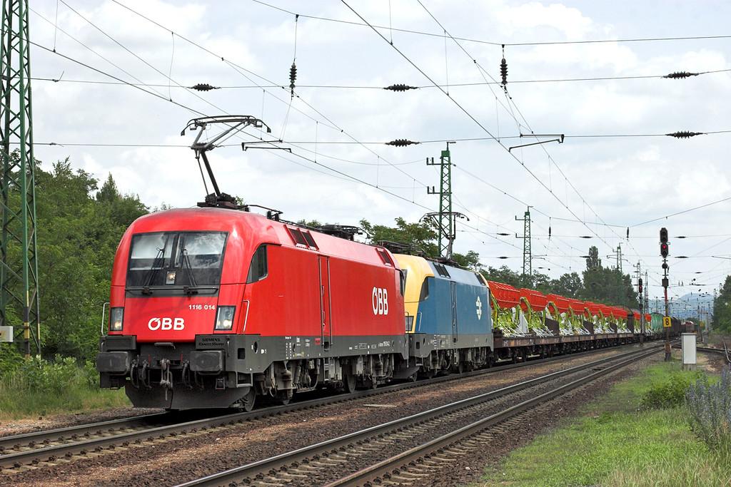 1116 014 and MAV 460004, Almásfüzitö Felsö 28/6/2012