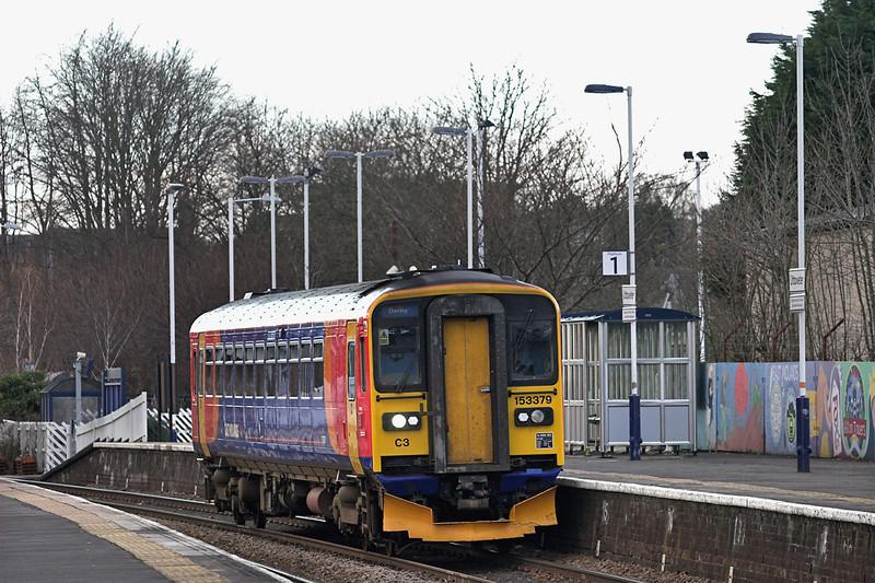 153379 Uttoxeter 28/11/2012<br /> 1K10 1107 Crewe-Derby