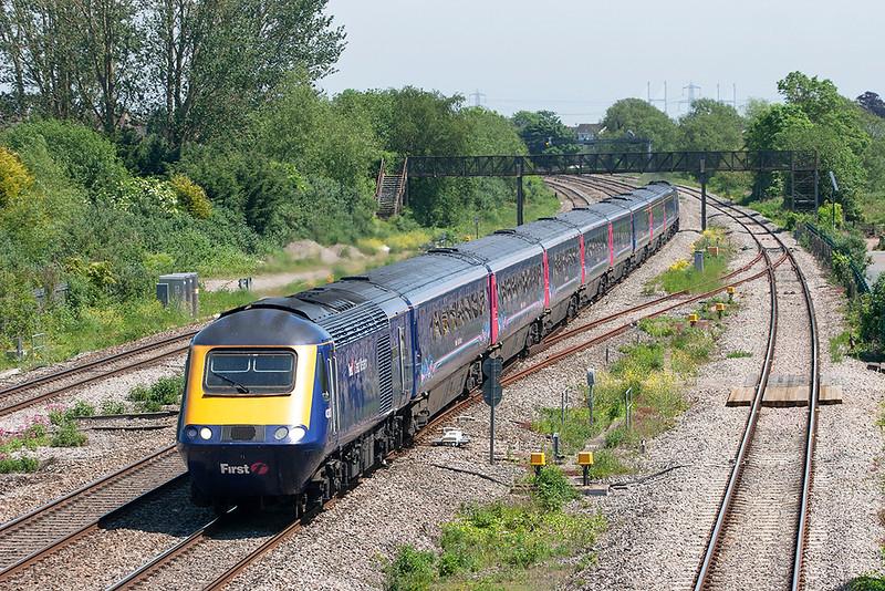 43127 and 43003, Magor 29/5/2012<br /> 1B28 1145 London Paddington-Swansea