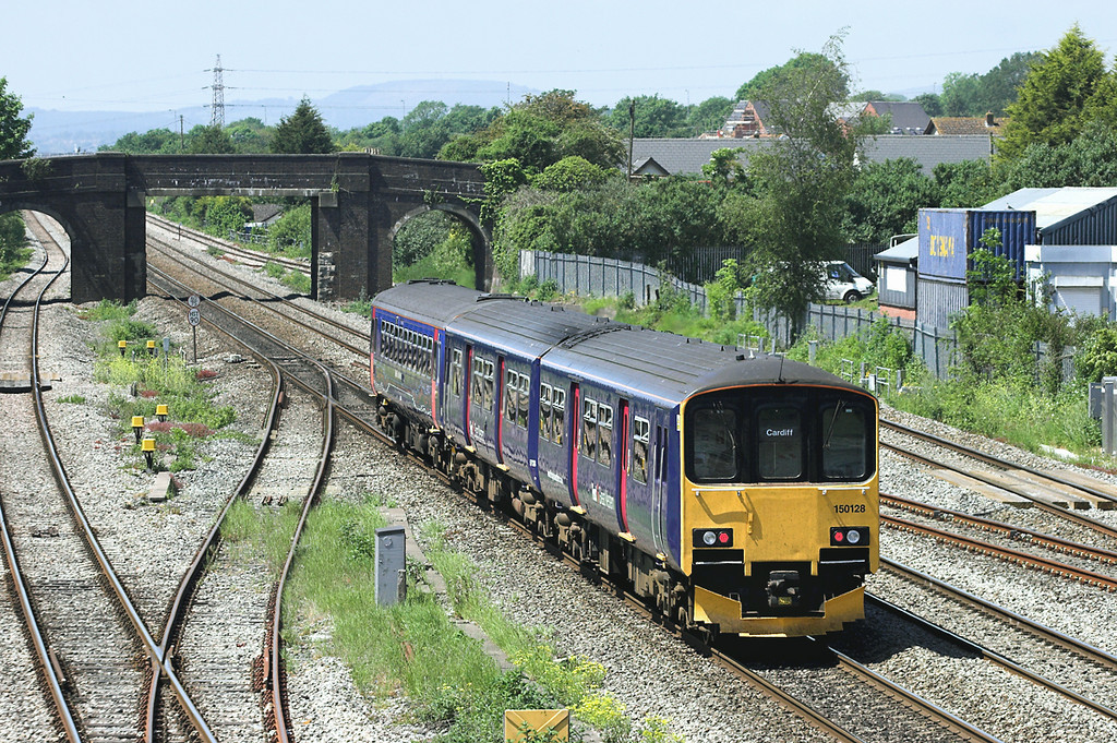 150128 and 153368, Magor 29/5/2012<br /> 2U14 1104 Taunton-Cardiff Central
