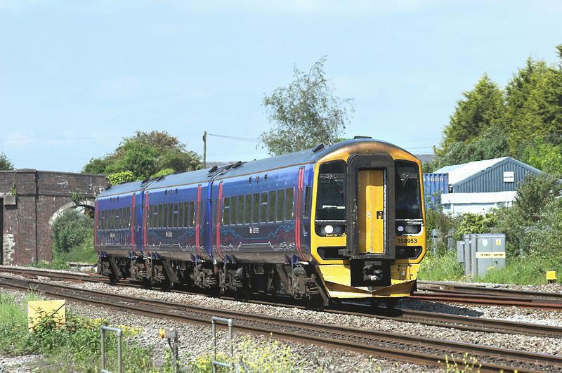 158953 Magor 29/5/2012<br /> 2C73 1400 Cardiff Central-Taunton