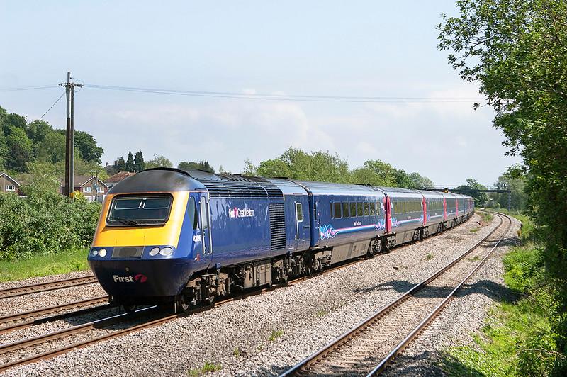43136 and 43186, Magor 29/5/2012<br /> 1B25 1045 London Paddington-Swansea