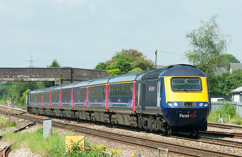 43141 and 43130, Magor 29/5/2012<br /> 1L52 1028 Swansea-London Paddington