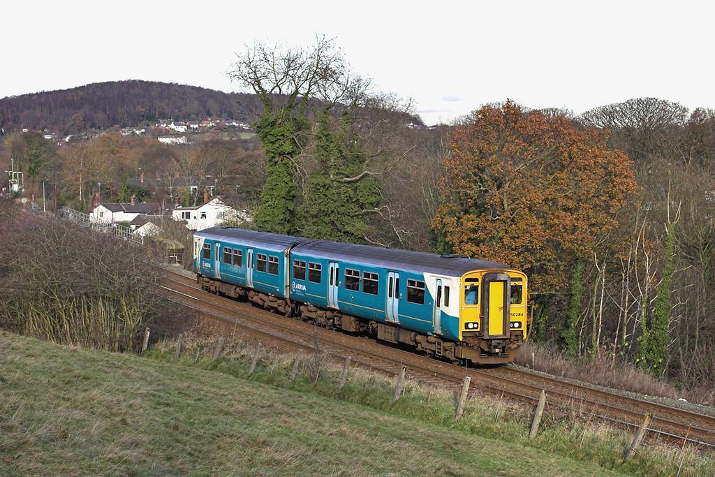 150284 Cefn-y-bedd 29/11/2012<br /> 2J71 1232 Bidston-Wrexham Central