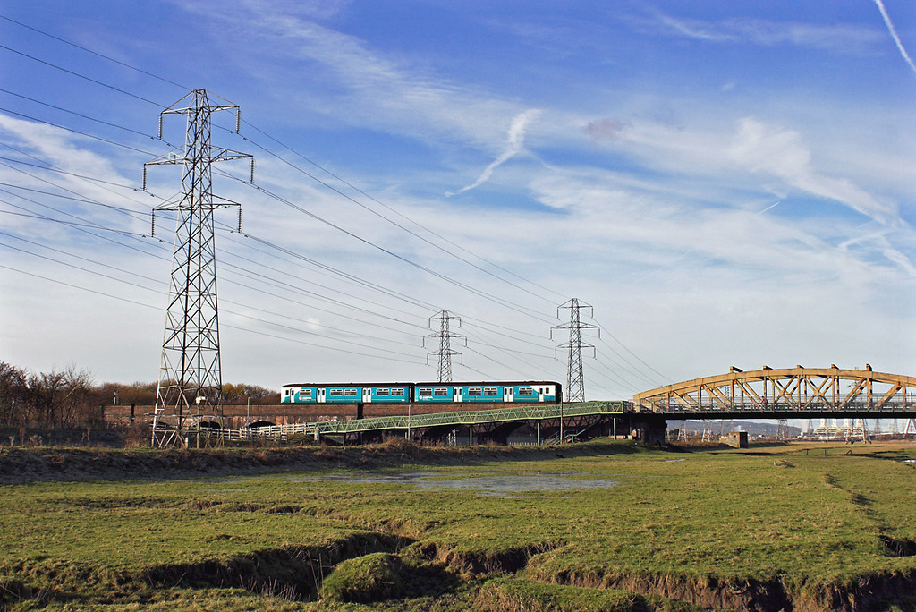 150258 Hawarden Bridge 29/11/2012<br /> 2J79 1155 Shotton-Wrexham Central