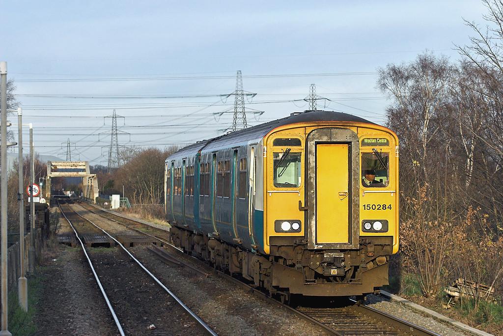 150284 Shotton 29/11/2012<br /> 2J75 1432 Bidston-Wrexham Central